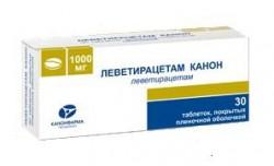 Леветирацетам Канон, табл. п/о пленочной 1000 мг №30